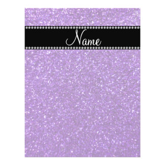 Personalized name purple glitter personalized flyer