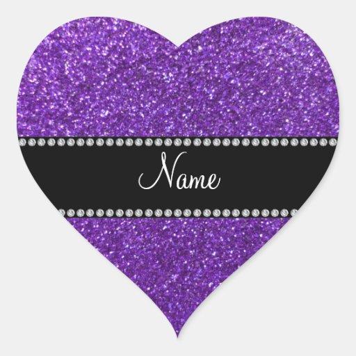 Purple Glitter Hearts Car Interior Design