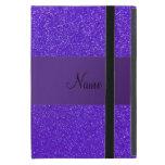 Personalized name purple glitter purple stripe covers for iPad mini