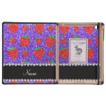 Personalized name purple glitter strawberry case for iPad