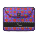 Personalized name purple glitter strawberry sleeve for MacBooks