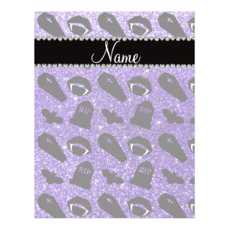Personalized name purple glitter vampire flyer