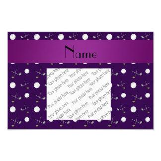 Personalized name purple golf balls photo art