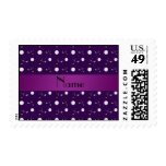 Personalized name purple golf balls postage