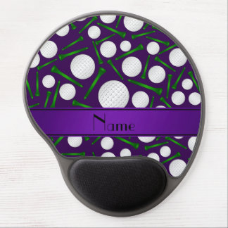 Personalized name purple golf balls tees gel mouse pads
