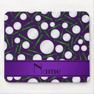 Personalized name purple golf balls tees mousepads