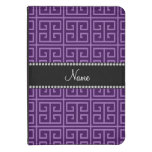 Personalized name purple greek key pattern kindle touch case