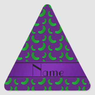 Personalized name purple green pickles stickers