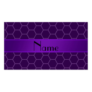 Personalized name purple honeycomb Double-Sided standard business cards (Pack of 100)