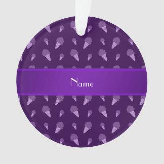 Personalized name purple ice cream pattern
