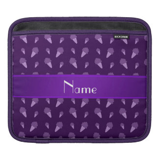 Personalized name purple ice cream pattern sleeve for iPads