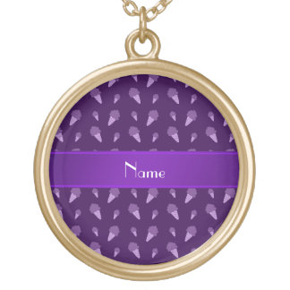 Personalized name purple ice cream pattern jewelry