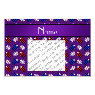 Personalized name purple jerseys rugby balls photo
