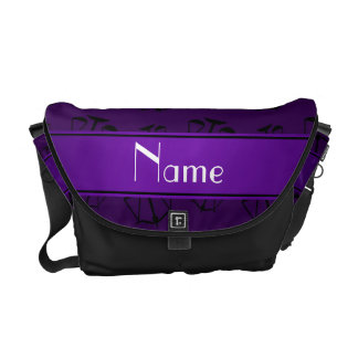 Personalized name purple justice scales messenger bags