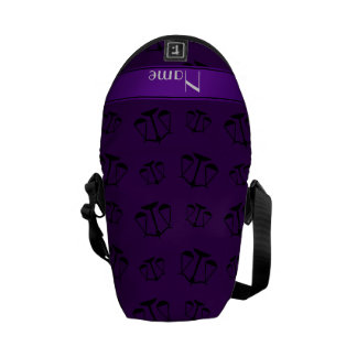 Personalized name purple justice scales courier bags