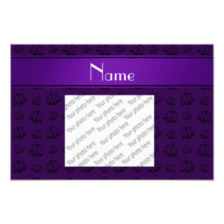 Personalized name purple justice scales photo art