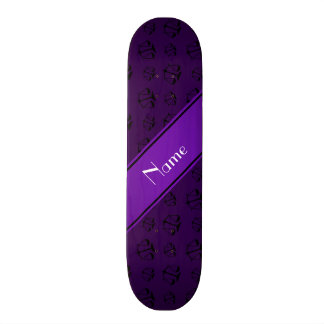 Personalized name purple justice scales custom skate board