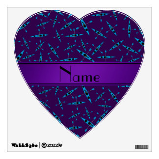 Personalized name purple kayaks wall decals