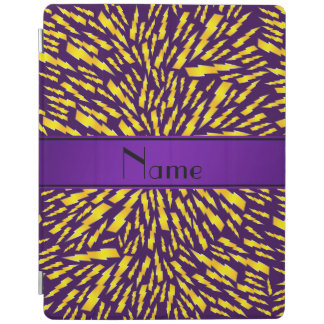 Personalized name purple lightning bolts iPad cover