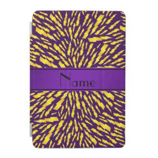 Personalized name purple lightning bolts iPad mini cover