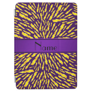 Personalized name purple lightning bolts iPad air cover