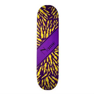 Personalized name purple lightning bolts skateboards