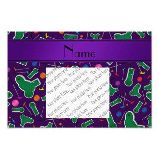 Personalized name purple mini golf photograph