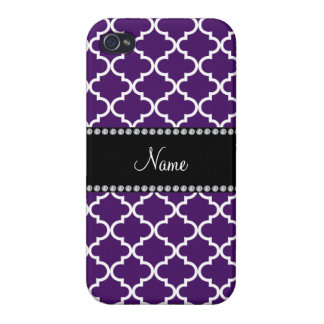 Personalized name Purple moroccan iPhone 4 Case