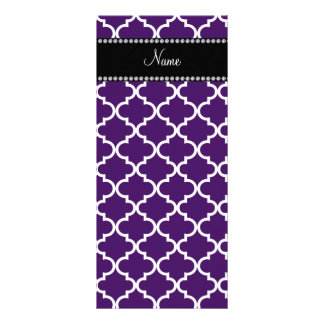 Personalized name Purple moroccan Rack Card