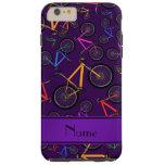 Personalized name purple mountain bikes tough iPhone 6 plus case