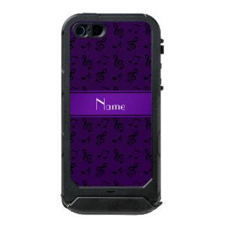 Personalized name purple music notes incipio ATLAS ID™ iPhone 5 case
