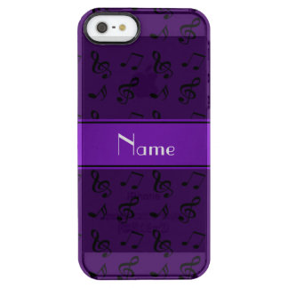 Personalized name purple music notes uncommon clearly™ deflector iPhone 5 case