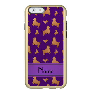 Personalized name purple Norwich Terrier dogs Incipio Feather® Shine iPhone 6 Case