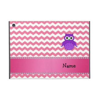 Personalized name purple owl pink chevrons cases for iPad mini