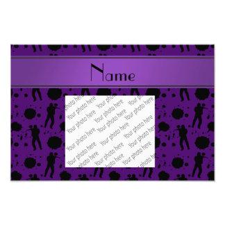 Personalized name purple paintball pattern photo print