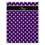 Personalized name purple pearls custom letterhead