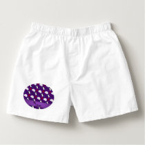 Personalized name purple penguins igloo fish squid boxers