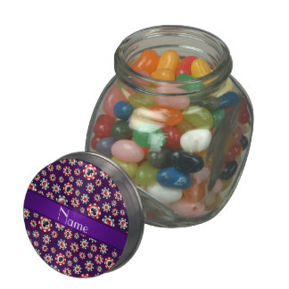 Personalized name purple poker chips jelly belly candy jar