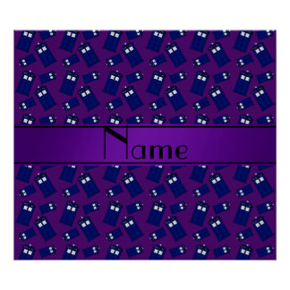 Personalized name purple police box posters