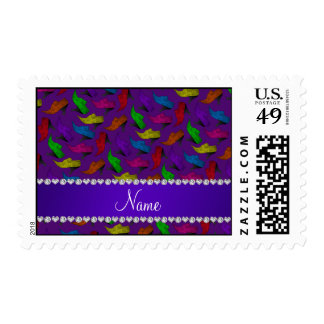 Personalized name purple rainbow vintage shoes postage