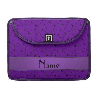 Personalized name purple skateboard pattern MacBook pro sleeves