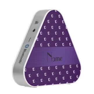 Personalized name purple soccer balls speaker
