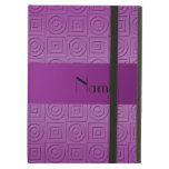 Personalized name purple square circles iPad cases