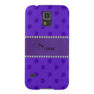 Personalized name purple strawberry pattern samsung galaxy nexus cover