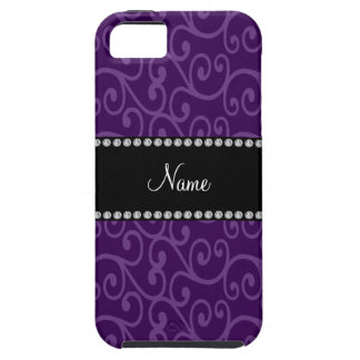 Personalized name purple swirls iPhone 5 covers