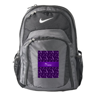 Personalized name purple tools pattern nike backpack