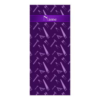 Personalized name purple tools pattern rack card design