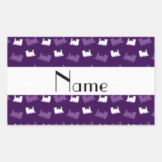 Personalized name purple train pattern sticker