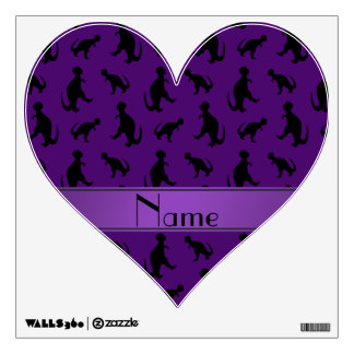 Personalized name purple trex dinosaurs wall graphics