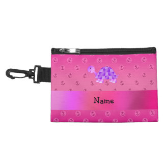Personalized name purple turtle pink anchor accessories bags